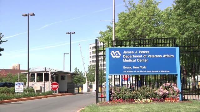 Various exteriors and signage of James J Peters Veterans Memorial Center / 130 West Kingsbridge Road in New York James J Peter's Veterans Hospital on...