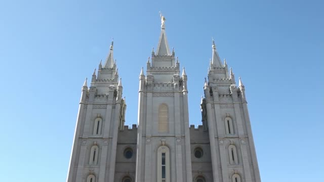 various exteriors and views of the salt lake temple largest and bestknown of the church of jesus chirst of latterday saints salt lake temple on... - mormonism stock videos & royalty-free footage