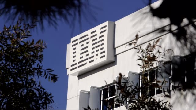 various exteriors of ibm headquarters / logos and signage ibm headquarters on january 17 2012 in san jose california - base stock videos & royalty-free footage