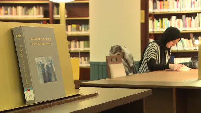 various general shots of turkish presidential library in ankara turkey on february 22 2020 decorated with the traditional seljuk ottoman and modern... - special education stock videos & royalty-free footage