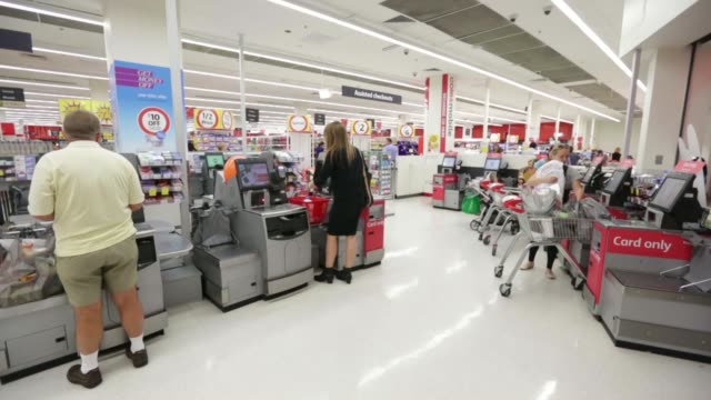 Various general views customers browse the fresh produce section of a Coles supermarket operated by Wesfarmers Ltd in Sydney Australia on Tuesday Feb...