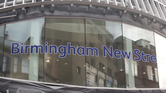 various general views exterior of birmingham new street national railway station, signage, roadworks outside, in birmingham, u.k. on tuesday, aug.... - station stock videos & royalty-free footage
