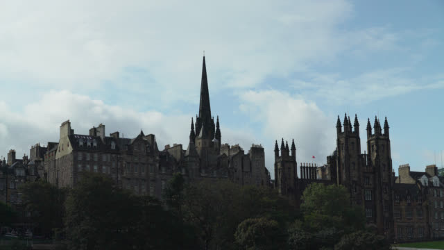 various gvs of central edinburgh, scotland - edinburgh scotland stock videos & royalty-free footage