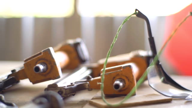 various hand tools on the table, slow motion - tape measure stock videos & royalty-free footage
