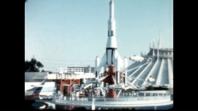 various home movie shots of tomorrowland from the late 1970's - bank of america stock videos & royalty-free footage