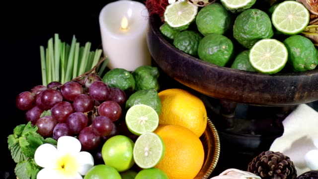 Various of natural herbal for spa treatments.