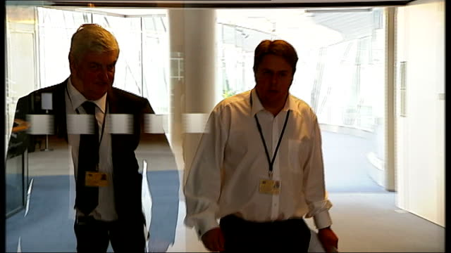 int various of nick griffin mep along next andrew brons mep - griffin stock videos & royalty-free footage