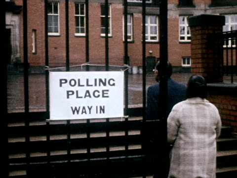 various people arrive at a polling station to vote in the eec referendum - european union stock videos & royalty-free footage