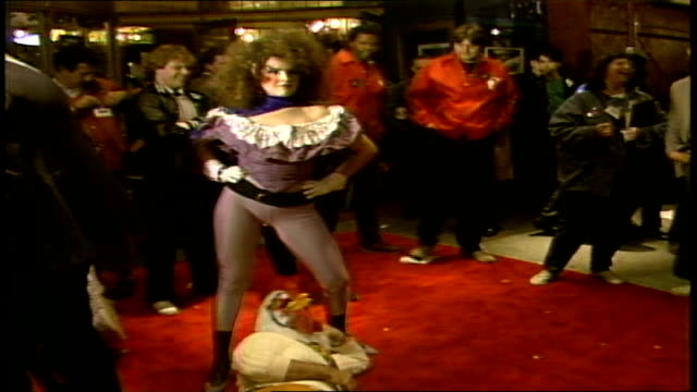 various people posing in halloween costumes on red carpet - 1985 stock videos & royalty-free footage
