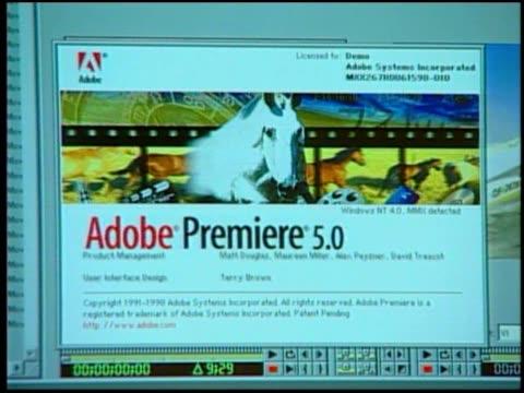 various shots about adobe premiere. - adobe bildbanksvideor och videomaterial från bakom kulisserna