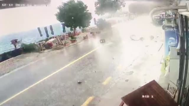 various shots as cyclone appears as heavy rain hits touristic marmaris and bodrum districts of turkey's southwestern mugla province on december 11... - mugla province stock videos & royalty-free footage