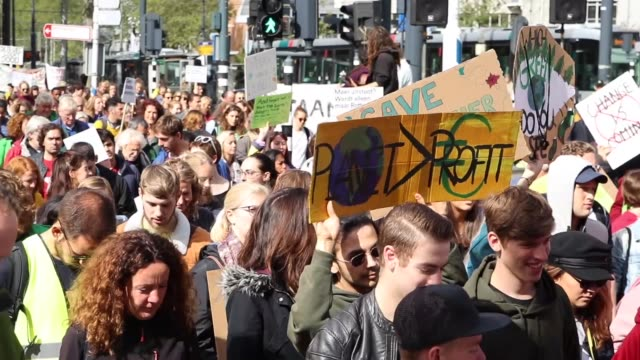 various shots as demonstrators from various nongovernmental organizations protest against the climate policies of dutch government in wilhelmina... - climate policy stock videos & royalty-free footage