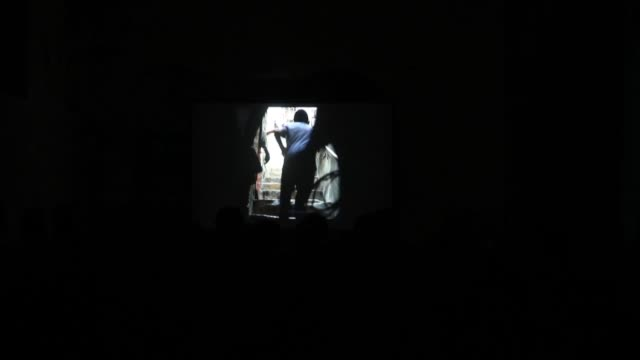 """various shots as turkish made documentary movie """"jerusalem's lights"""" is screened at yunus emre cultural center in eastern jerusalem on may 25, 2019. - documentary film stock videos & royalty-free footage"""
