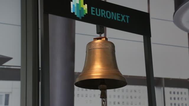 various shots at euronext in la défense paris france on thursday july 16 2020 - paris stock exchange stock videos & royalty-free footage