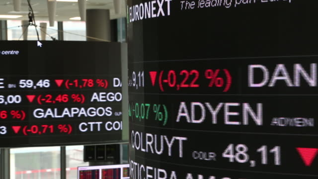 various shots at euronext in la défense, paris, france on thursday, july 16, 2020. - trading stock videos & royalty-free footage