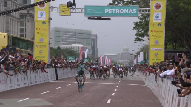 various shots during 3nd lap of 24th langkawi cycling tour held by international cycling union in langkawi state of malaysia on april 08 2019 - langkawi stock videos and b-roll footage