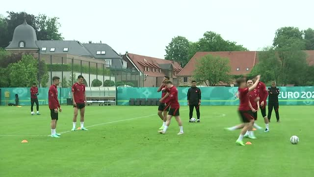 stockvideo's en b-roll-footage met various shots during turkish national football team's training session in harsewinkel, germany on june 07 ahead of friday's euro2020 championship... - match sport