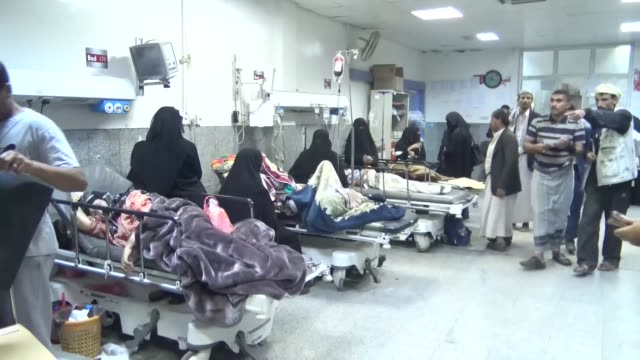 various shots from an hospital in savan region where the injured people are receiving treatment as saudi-led coalition airstrikes leaves at least 5... - civilian stock videos & royalty-free footage