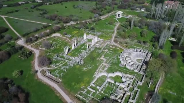 various shots from aphrodisias archaeological site which was added to the unesco world heritage list in 2017 in aydin province of southwestern turkey... - unesco stock videos & royalty-free footage