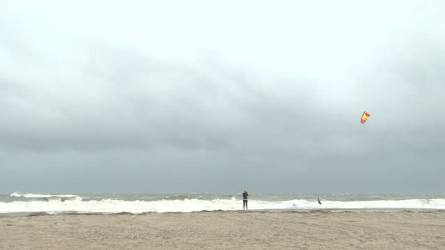 various shots from beaches at jacksonville coasts in florida on september 04 2019 dorian is expected to impact the east coast of florida this week - coastal feature stock videos & royalty-free footage