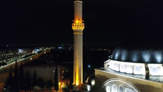 various shots from celebi sultan mosque and musratpasha mosque on holy night of barat as mosques nationwide have been closed as part of precautions... - advent calendar stock videos & royalty-free footage