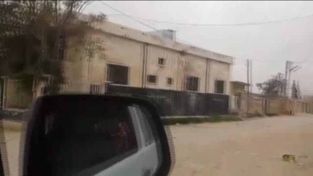 various shots from hawar kilis village of azaz where clashes between daesh terrorist organization and free syrian army forces continue on april 10,... - isil konflikt stock-videos und b-roll-filmmaterial