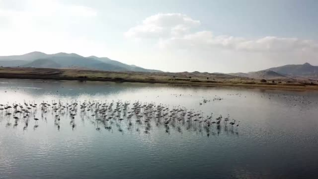 Various shots from Lake Karatas on October 04 2018 in Karamanli district of Burdur province southwestern Turkey