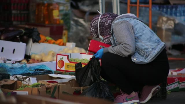 various shots from market places in jerusalem on april 25 2020 as israel imposes restrictions to curb new type of coronavirus pandemic over ramadan... - israel stock videos & royalty-free footage