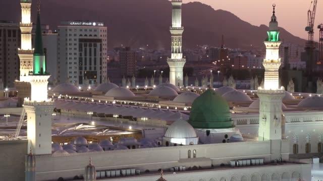 various shots from medina city of beloved prophet muhammad during sunrise in medina saudi arabia on august 15 2019 - muhammad prophet stock videos & royalty-free footage