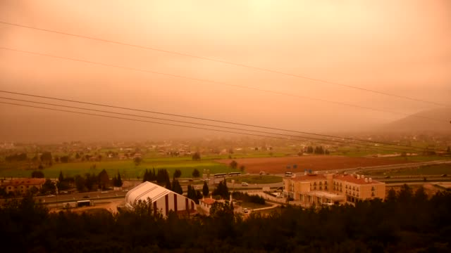 various shots from mugla province which is engulfed by dustladen air on march 23 2018 in turkey the turkish state meteorological service warned on... - mugla province stock videos and b-roll footage