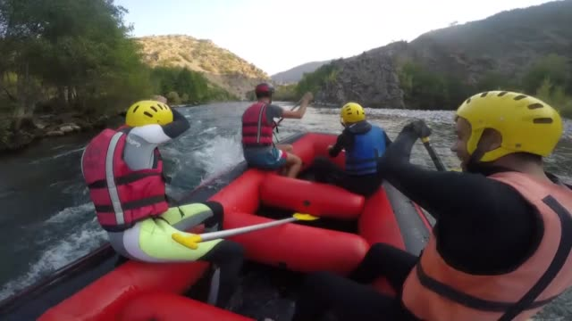 various shots from people doing rafting on the munzur stream at munzur valley national park in eastern tunceli province of turkey on october 18 2019... - world sports championship stock videos & royalty-free footage