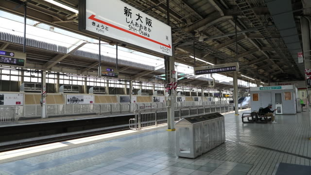 various shots from railway station and city amid stay at home order in osaka japan on saturday may 2 2020 - japan bloomberg stock videos & royalty-free footage