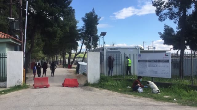 various shots from ritsona camp in the greek capital athens on april 02 2020 after a full lockdown for the next 14 days in a refugee and migrant camp... - greece stock videos & royalty-free footage