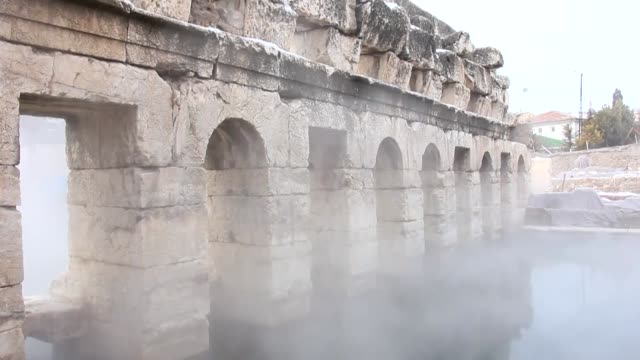 Various shots from the 2000yearold Roman bath also known as 'Basilica Therma' located in Central Anatolian Turkish province of Yozgat on December 22...