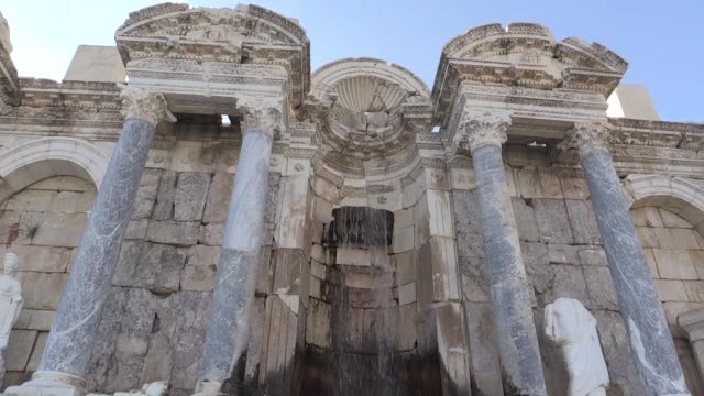 Various shots from the Archaeological Site of Sagalassos which is on the UNESCO Tentative List of World Heritage Sites in Aglasun district of Burdur...