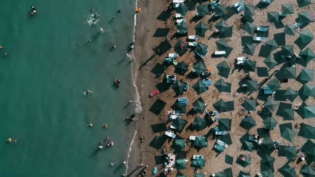 various shots from the blueflagged beaches in adana province of southern turkey on august 29 2018 turkey with its 459 blue flagcertified beaches has... - southern european stock videos & royalty-free footage