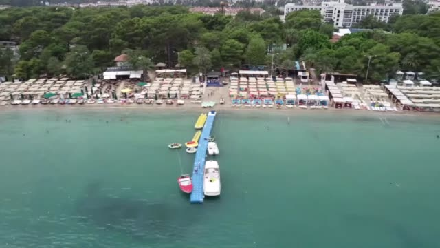 various shots from the blueflagged beaches in the mediterranean resort city of antalya turkey on august 29 2018 turkey with its 459 blue... - mediterranean turkey stock videos and b-roll footage