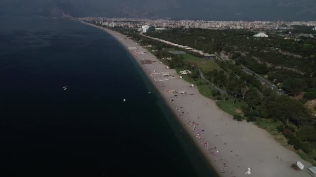 various shots from the blueflagged konyaalti and mermerli beaches in the mediterranean resort city of antalya turkey on august 29 2018 turkey with... - mediterranean turkey stock videos and b-roll footage