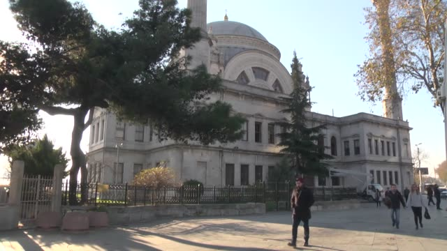 various shots from the dolmabahce mosque which was damaged in the deadly terror attacks near the besiktas football club stadium vodafone arena in the... - besiktas stock videos and b-roll footage