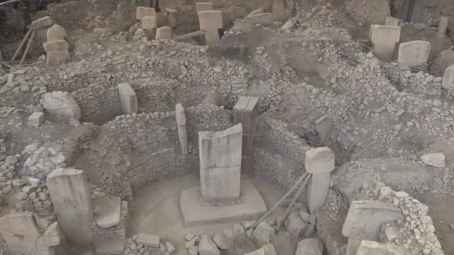 Various shots from the Gobeklitepe the world's oldest known temple located in southeastern Sanliurfa province of Turkey on March 26 2018 Gobeklitepe...