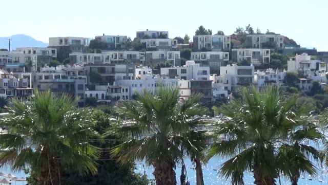 various shots from the luxury hotels in turkey's renowned touristic resort bodrum in western mugla province and details from the beaches - mugla province stock videos and b-roll footage