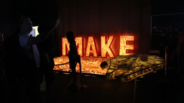 various shots from the maker faire at the san mateo county event center in san mateo california on may 21 2017 maker faire is an event in which... - commercial event stock videos & royalty-free footage