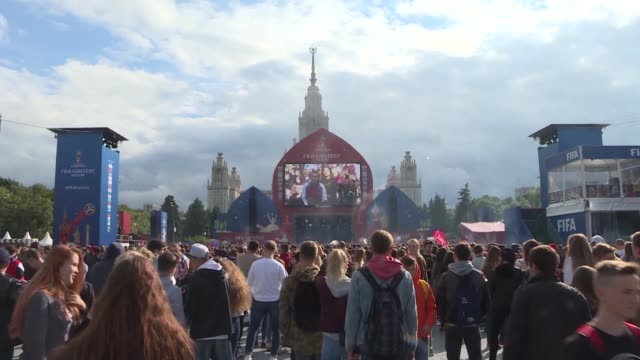 various shots from the official opening ceremony of the fifa fan fest in moscow russia on june 10 2018 - ceremony stock videos and b-roll footage