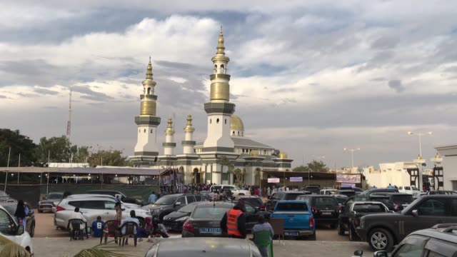vídeos de stock e filmes b-roll de various shots from the senegal's holy city of touba on january 28 2019 touba resident abdulaziz mbodge speaks in an interview on monday - senegal