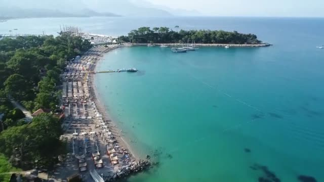 various shots from the turkey's mediterranean resort city of antalya on september 04 2018 more than 9 million tourists visited turkey's southern... - mediterranean turkey stock videos and b-roll footage