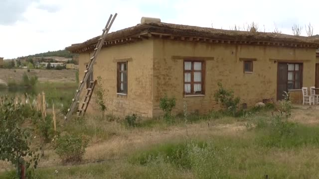 various shots from the village of eternal gratitude which is built almost ten years ago in the cavus neighborhood of huyuk district in central... - konya stock videos and b-roll footage