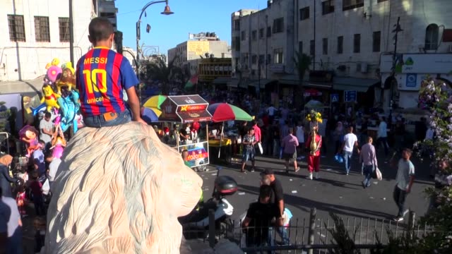 Various shots from the West Bank city of Ramallah as Palestinian Muslims prepare to welcome the Muslim holiday of Eid alAdha on September 11 2016