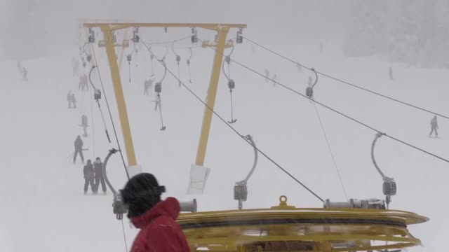 various shots from uludag mountain one of turkey's popular center for winter sports such as skiing in bursa turkey on january 21 2017 - uludag stock videos and b-roll footage