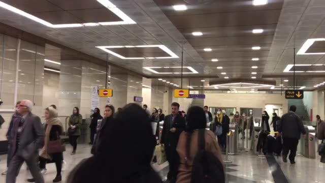 various shots from vali asr square in iranian capital tehran on february 23 as density lows in streets after 8 people confirmed dead because of... - イラン点の映像素材/bロール
