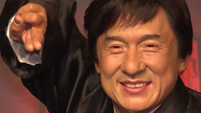 various shots from waxwork of worldrenowned actor jackie chan at the madame tussauds wax museum in istanbul turkey on february 12 2019 - madame tussauds stock videos & royalty-free footage